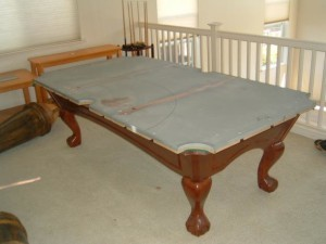 Chicago pool table moves correctly disassemble and reassemble your pool table.